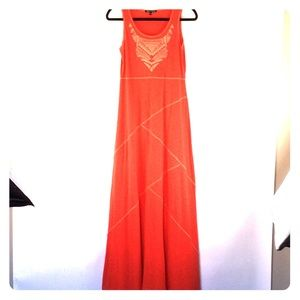 Cable and Gauge Beautiful Orange Maxi Dress